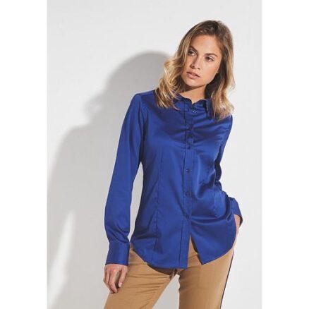 Blauw overhemd lange mouw
