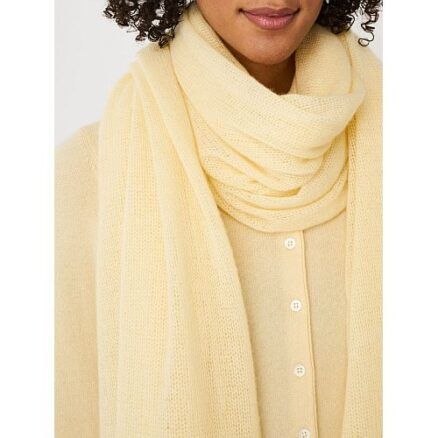 Gele cashmere sjaal