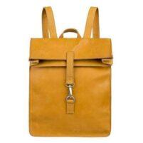 Leren laptop backpack