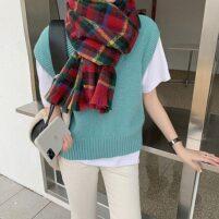 Rood geruite sjaal